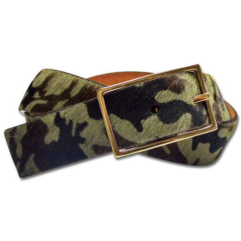 Kevin's Ladies  Camo & Orange  Suede Belt