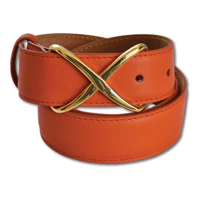 Kevin's Ladies X Leather Belt-WOMENS CLOTHING-ORANGE-L-Kevin's Fine Outdoor Gear & Apparel