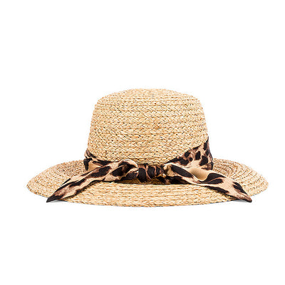 Hat Attack Canopy Hat-WOMENS CLOTHING-Hat Attack-Natural/Leopard Scarf-Kevin's Fine Outdoor Gear & Apparel
