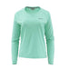 Simms Ladies Solarflex Long Sleeve Crewneck-WOMENS CLOTHING-Simms Fishing Products-Aruba Heather-XS-Kevin's Fine Outdoor Gear & Apparel