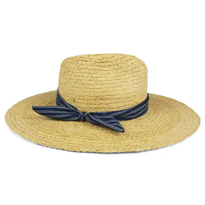 Women's Day to Day Continental Sun Hat-Women's Accessories-Natural/Navy Stripe-Kevin's Fine Outdoor Gear & Apparel