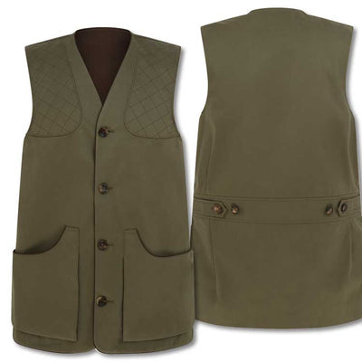 William & Son Men's Cotton Shooting Vest