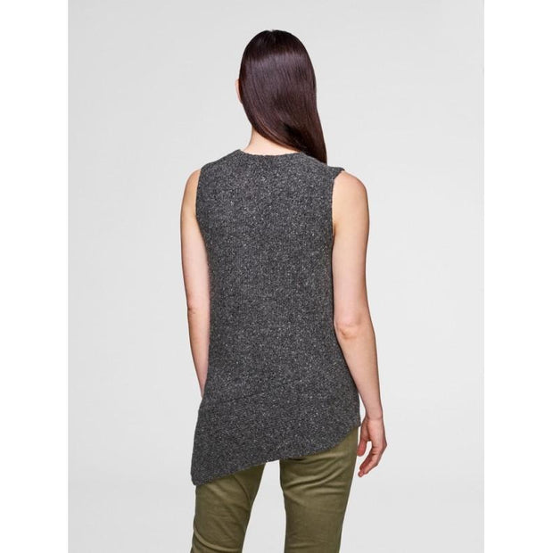 ASYMMETRICAL SLEEVELESS CREW Back View