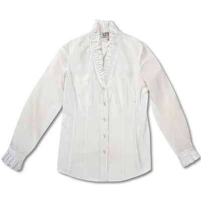 Huntress Long Sleeve Ruffle Blouse-White-0-Kevin's Fine Outdoor Gear & Apparel