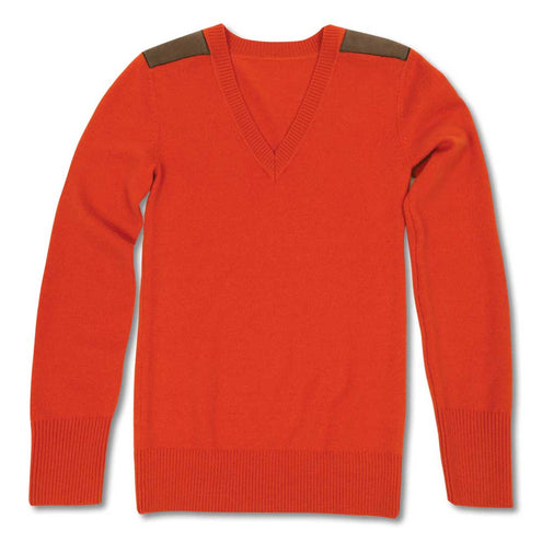 Kevin's Huntress Shooting V-Neck Sweater in Blaze Orange