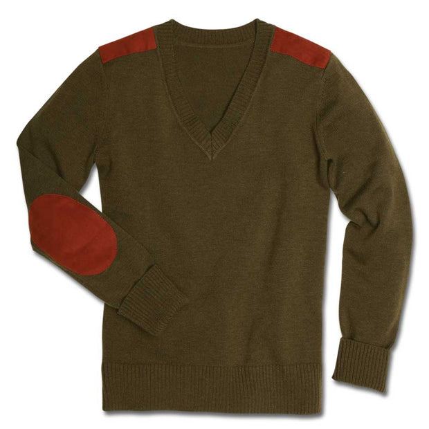 Kevin's Huntress Shooting V-Neck Sweater in Olive