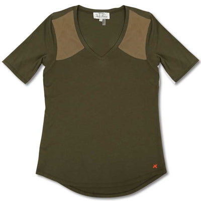 Olive Huntress V-Neck Knit Shooting Shirt