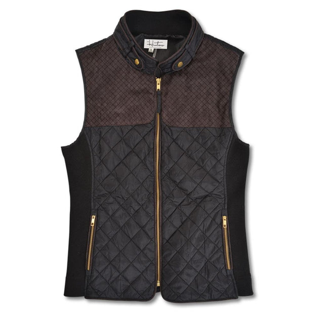 Kevin's Huntress Quilted Vest in Black