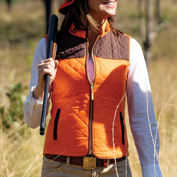 Kevin's Huntress Quilted Vest-WOMENS CLOTHING-BLAZE ORANGE-2XL-Kevin's Fine Outdoor Gear & Apparel