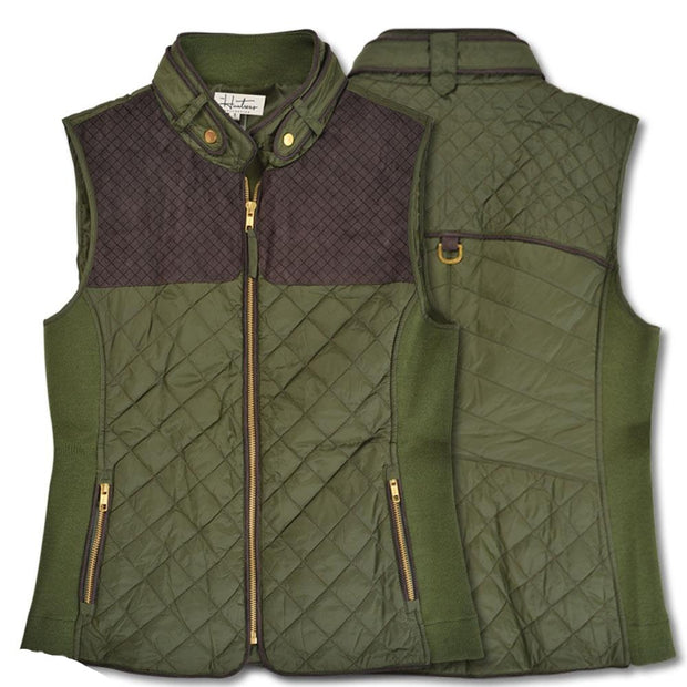 Kevin's Huntress Quilted Vest-WOMENS CLOTHING-OLIVE-M-Kevin's Fine Outdoor Gear & Apparel