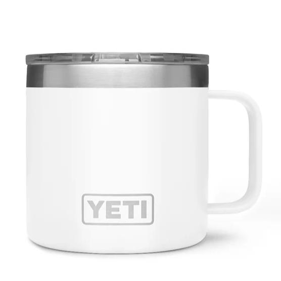 YETI Rambler 14oz. Mug-HUNTING/OUTDOORS-WHITE-Kevin's Fine Outdoor Gear & Apparel