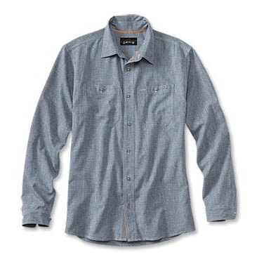 Orvis Chambray Long Sleeve Work Shirt 18Z9-MENS CLOTHING-BLUE CHAMBRAY-M-Kevin's Fine Outdoor Gear & Apparel