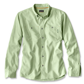 Orvis Out Smart Tech Chambray Long Sleeve Shirt-MENS CLOTHING-Cactus-M-Kevin's Fine Outdoor Gear & Apparel