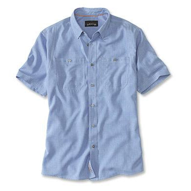 Orvis Tech Chambray Short Sleeved Work Shirt-MENS CLOTHING-Medium Blue-M-Kevin's Fine Outdoor Gear & Apparel
