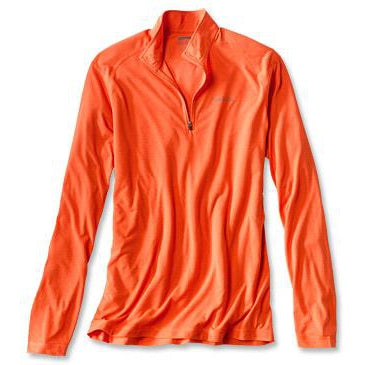 Orvis DriRelease 1/4-Zip T-shirt-MENS CLOTHING-Blaze Orange-S-Kevin's Fine Outdoor Gear & Apparel