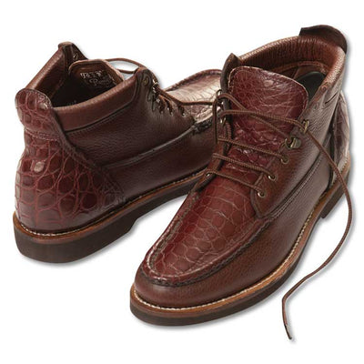 Russell Premiere Cayman Alligator and Leather Chukka