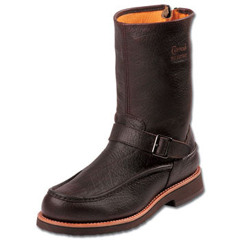 Chippewa Mens 10 inch Moc Toe Back Zip Upland Boot