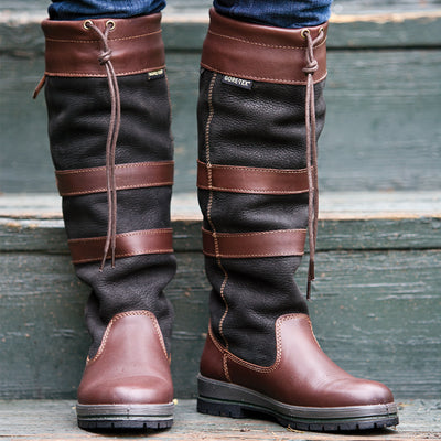 Dubarry Galway Boot for Ladies-FOOTWEAR-BLACK-BROWN-USM 10/EU 44-Kevin's Fine Outdoor Gear & Apparel