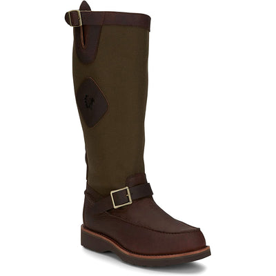 "Chippewa 17"" Cutter Back Zip Snake Boot-FOOTWEAR-OLIVE-9-D-Kevin's Fine Outdoor Gear & Apparel"
