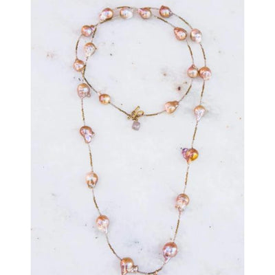 HEFTY SPACER BLUSH NECKLACE-JEWELRY-BLUSH-Kevin's Fine Outdoor Gear & Apparel