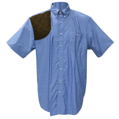 Kevin's Performance Blue/Aqua Gingham Short Sleeve Right Hand Shooting Shirt-MENS CLOTHING-Kevin's Fine Outdoor Gear & Apparel