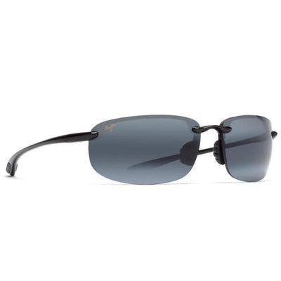 "Maui Jim ""Ho'okipa"" Polarized Sunglasses-SUNGLASSES-Gloss Black-Neutral Grey-Kevin's Fine Outdoor Gear & Apparel"