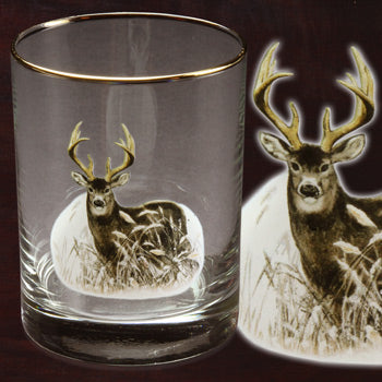 Deer 14 oz Double Old Fashioned Set of 4