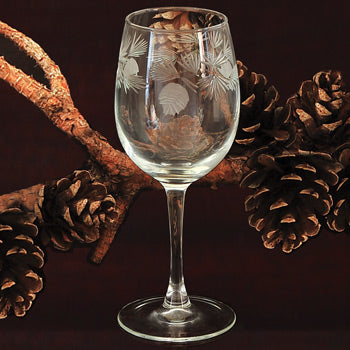 Pinecone Glassware - 12 oz. Tulip Wine Glass