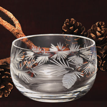 Pinecone Glassware - Large Bowl