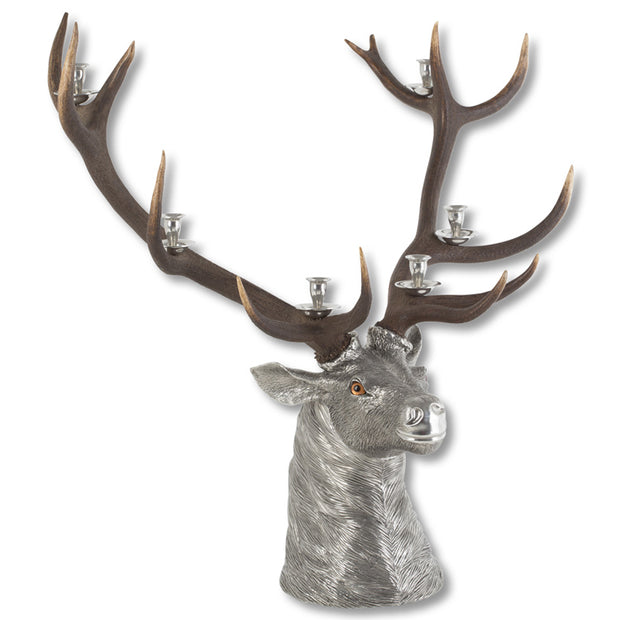 Elk Head 6 Light Candelabrum