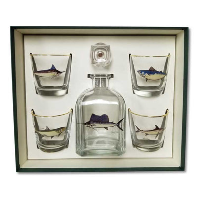 Sporting Fish Decanter Set