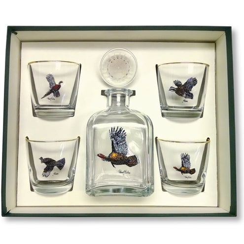 Richard Bishop Upland Gamebirds Decanter Set