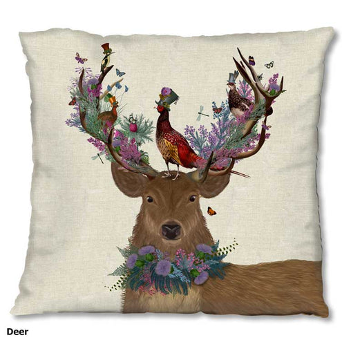 Woodland Critters 18 x 18 Pillow Case-HOME/GIFTWARE-FabFunky Ltd-Kevin's Fine Outdoor Gear & Apparel