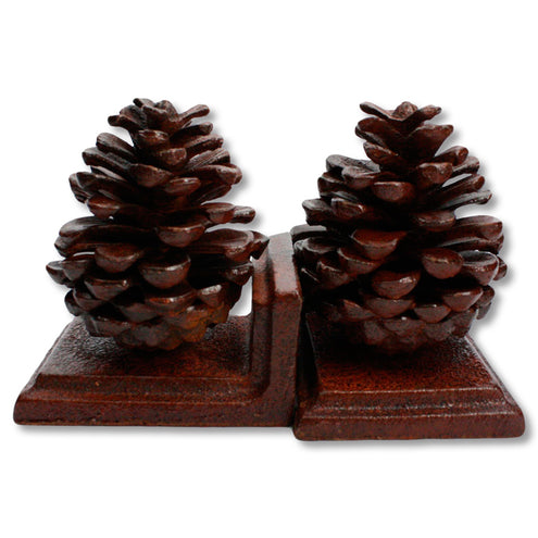 Cast Iron Pinecone Bookends 4 in x 4.5 in