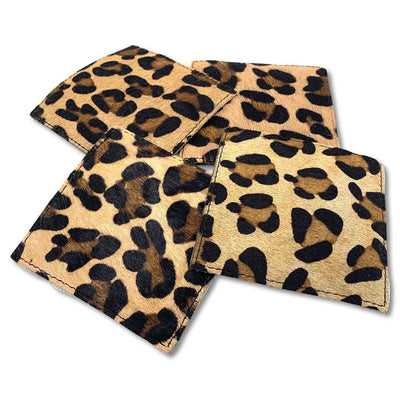 Kevin's Leather Cowhide Coaster Set-HOME/GIFTWARE-Leopard-Kevin's Fine Outdoor Gear & Apparel