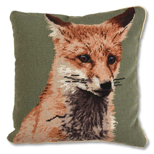 Sitting Fox 18x18 Pillow