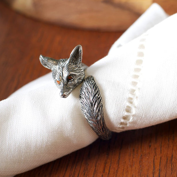 Pewter Fox Napkin Ring