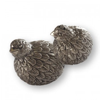 Pewter Salt & Pepper Set - Quail