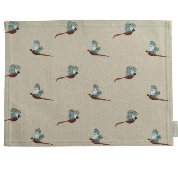 Fabric Placemats - Foxes or Pheasants-HOME/GIFTWARE-PHEASANT-Kevin's Fine Outdoor Gear & Apparel