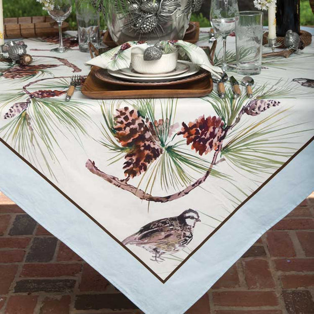 Kevin's Long Pine & Quail Table Cloth-HOME/GIFTWARE-SHAOXING CITY GUZHEN TRADING CO LTD-Kevin's Fine Outdoor Gear & Apparel