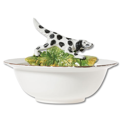 Vietri Serving Bowl With Hunting Dog