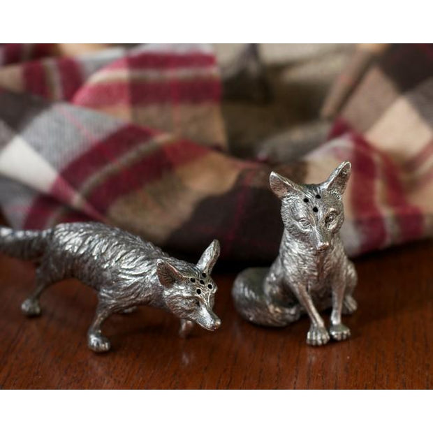Pewter Salt & Pepper Set-HOME/GIFTWARE-Vagabond House-Fox-Kevin's Fine Outdoor Gear & Apparel
