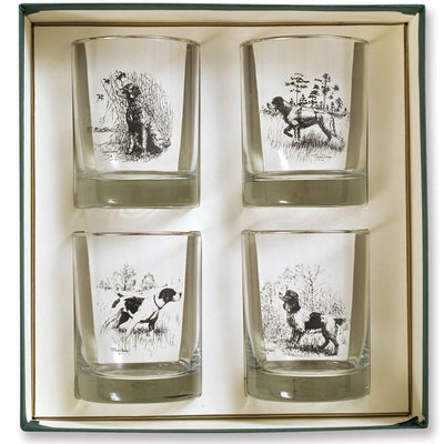 Richard Bishop Sporting Dogs Double Old Fashioned Set of 4