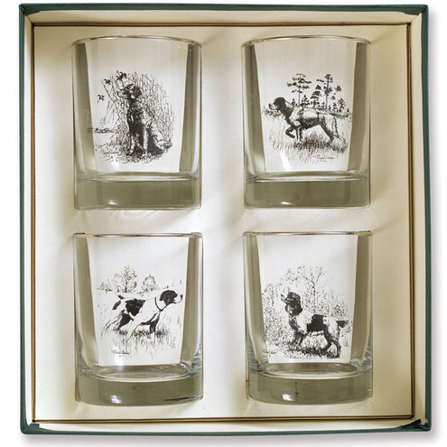 Sporting Dogs Double Old Fashioned Set of 4
