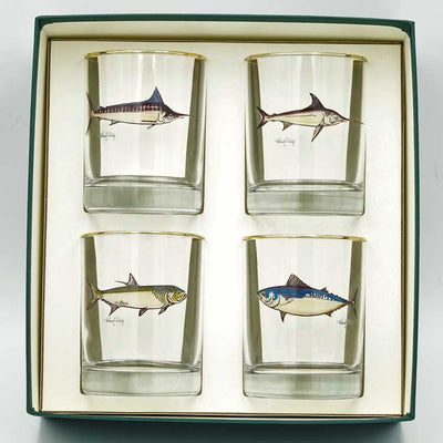 Sporting Fish Double Old Fashioned Set of 4