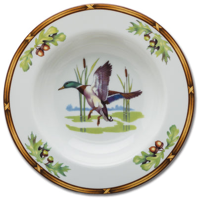 Gamebird Rimmed Soup Bowl