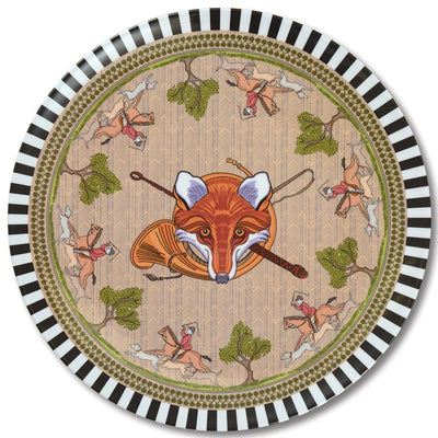 Kevin's Fox Hunt Design Melamine Platter