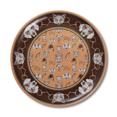Kevin's Exclusive Fox & Hound Melamine Dinner Plate