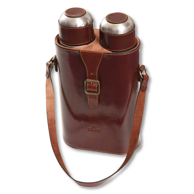 Kevin's Leather Thermos Tote Set