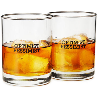 Richard Bishop Optimist/Pessimist Double Old Fashioned Set